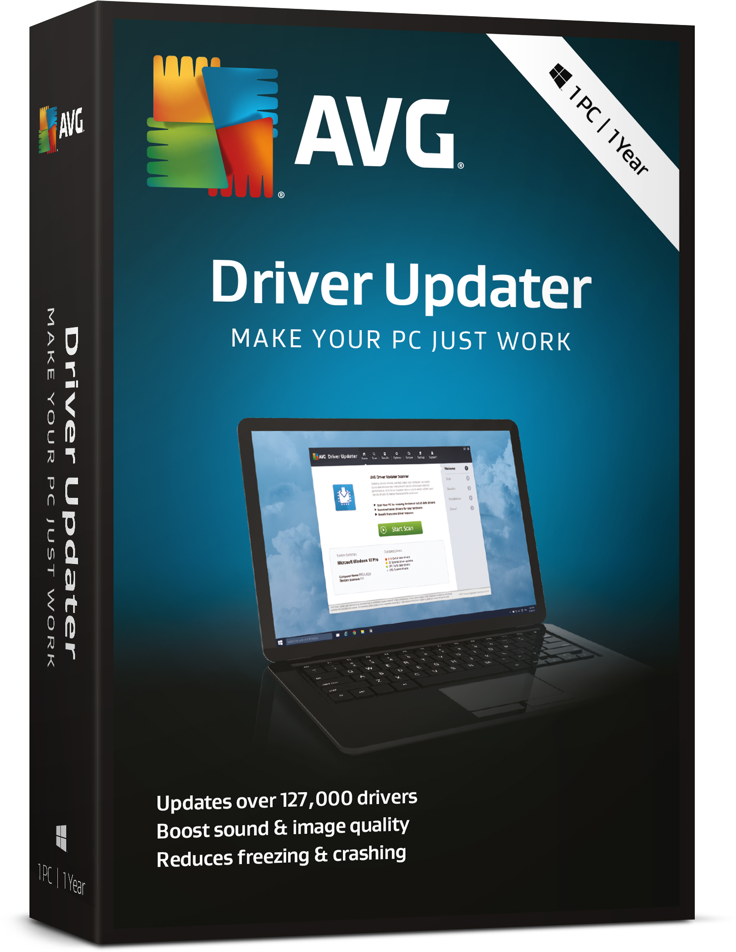 AVG Driver Updater 1 Computer 1 Year License